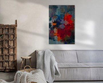 Abstracte warboel