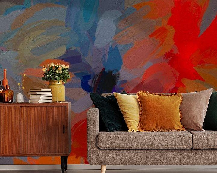 Sfeerimpressie behang: Abstracte rozen van Leo Luijten