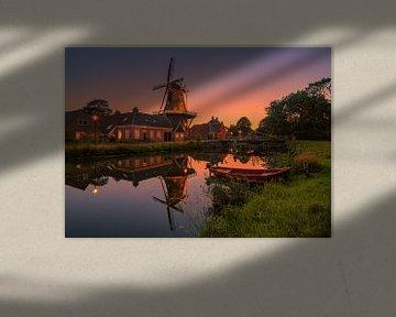 Sonnenuntergang in Onderdendam