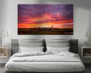 Prachtige zonsopkomst in Akersloot van Dennis Schaefer