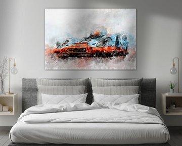 917 Gulf in Le Mans von Theodor Decker