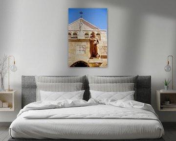 Kerk van de Geboorte van Jezus - Analoge fotografie! van Tom River Art