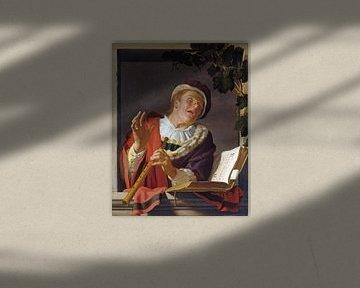 Singender Flötenspieler - Gerard van Honthorst, ca.1623