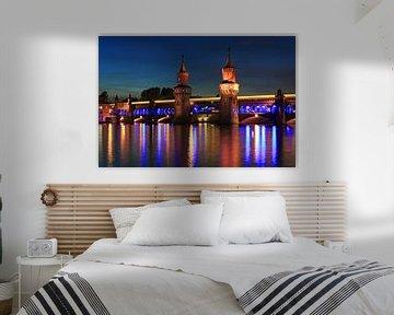 Berlin Oberbaumbrücke in besonderem Licht