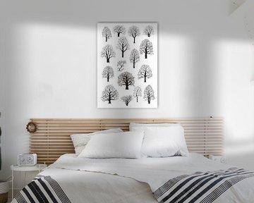 Silhouetten von Bäumen von Jasper de Ruiter