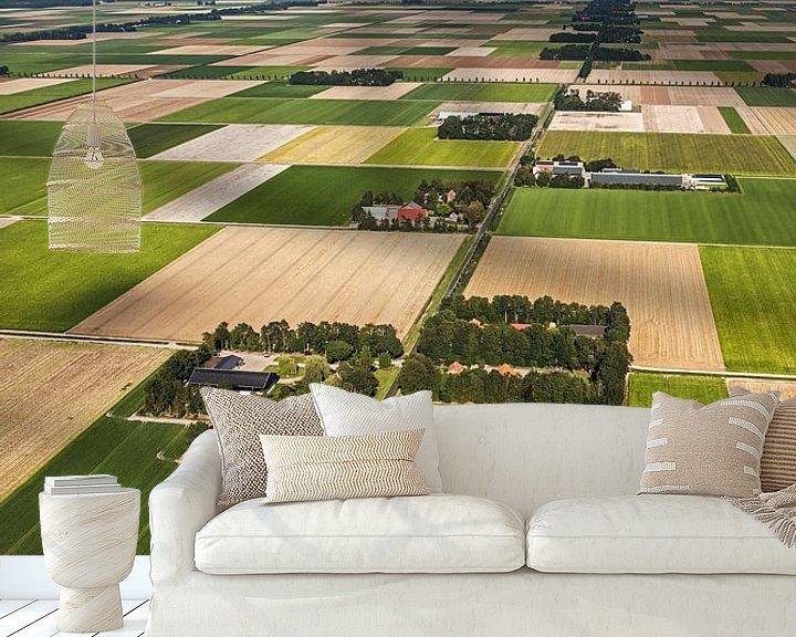 Impression: Photo aérienne des fermes du Noordoostpolder sur Frans Lemmens