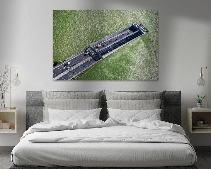 Impression: Photo aérienne du tunnel Zeeburger sous l'IJ à Amsterdam sur Frans Lemmens
