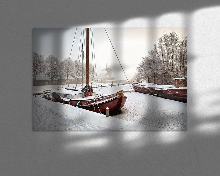 Impression: Scène d'hiver à Sloten sur Frans Lemmens