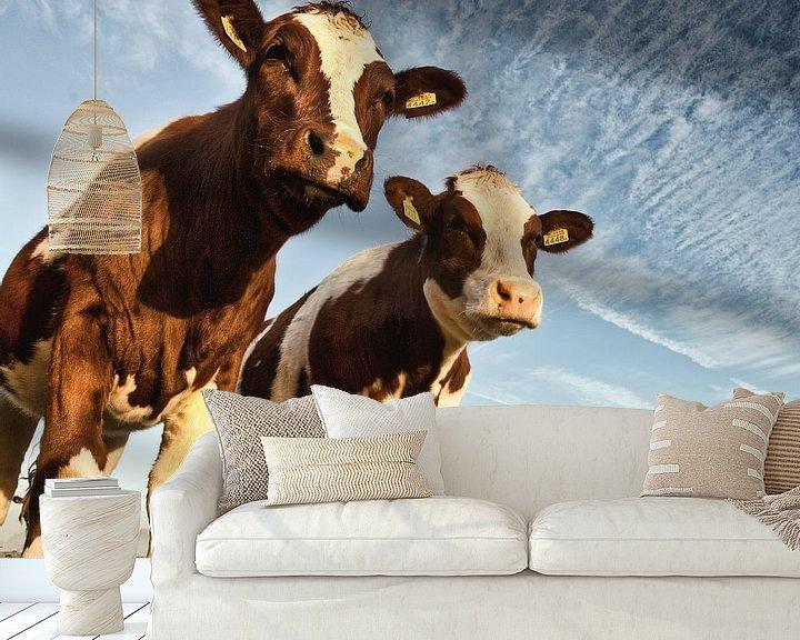 Impression: Des vaches dans un polder sur Frans Lemmens