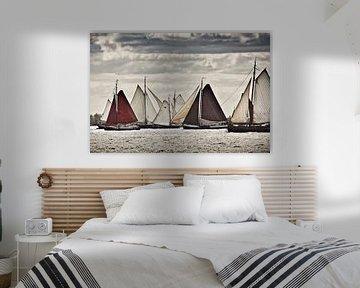 Schepen van de Bruine Vloot bij Volendam