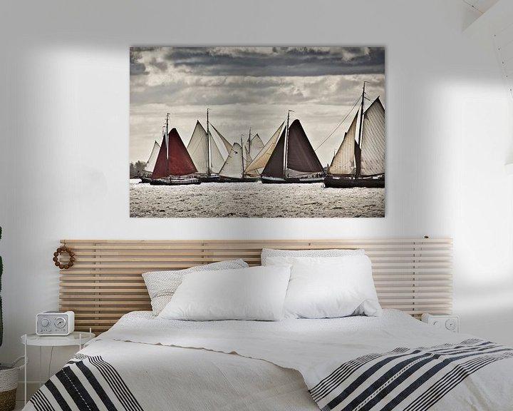 Impression: Les navires de la Flotte Brune près de Volendam sur Frans Lemmens