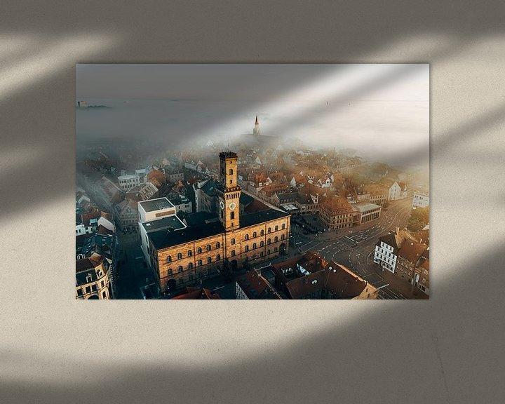 Impression: L'hôtel de ville de Fürth dans le brouillard sur Faszination Fürth