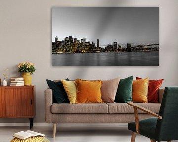 Skyline von Manhattan, New York von Joost Potma