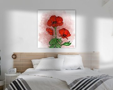 Blumenmotiv - Roter Mohn
