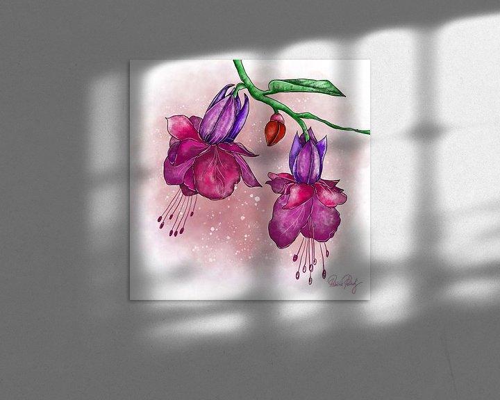 Beispiel: Blumenmotiv - Lila Fuchsien von Patricia Piotrak