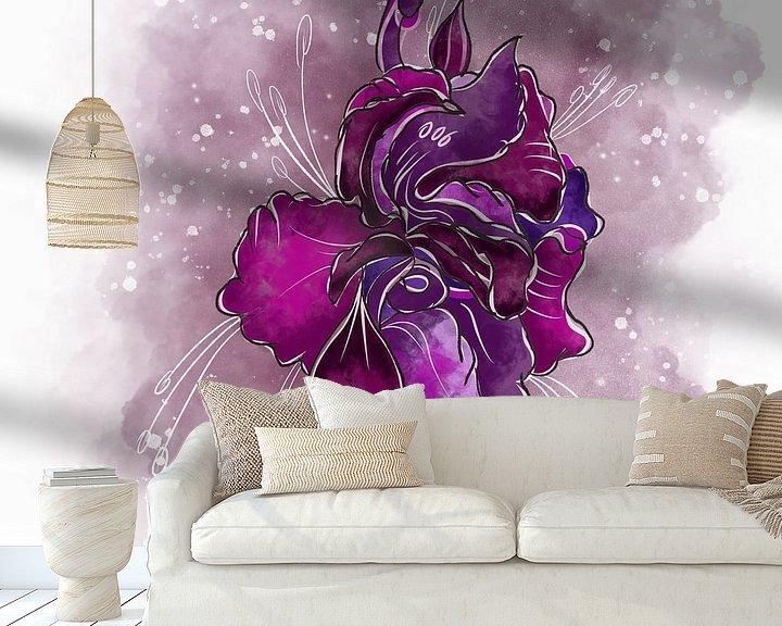 Beispiel fototapete: Blumenmotiv - Gladiole von Patricia Piotrak