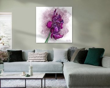 Blumenmotiv - Gladiole von Patricia Piotrak