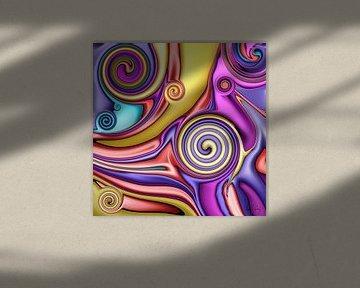 Abstrakte Kunst - Fluid Painting Colorful