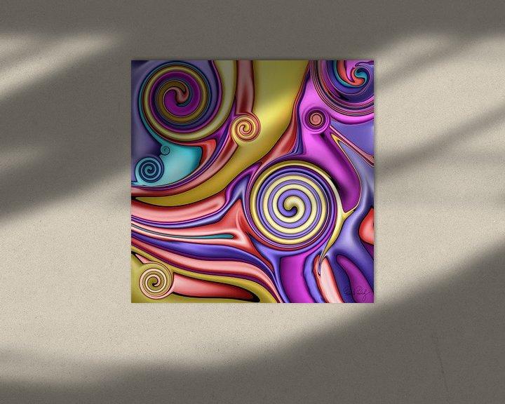 Beispiel: Abstrakte Kunst - Fluid Painting Colorful von Patricia Piotrak