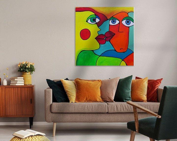 Beispiel: Abstrakte Kunst - Abstract Kissing von Patricia Piotrak