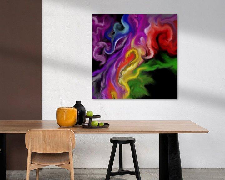 Beispiel: Abstrakte Kunst - Der Feuerengel von Patricia Piotrak