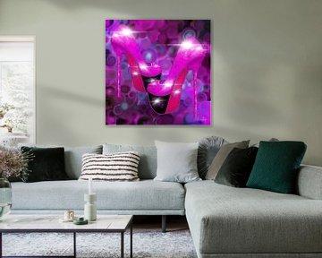 Abstrakte Kunst - Party Time High Heels von Patricia Piotrak