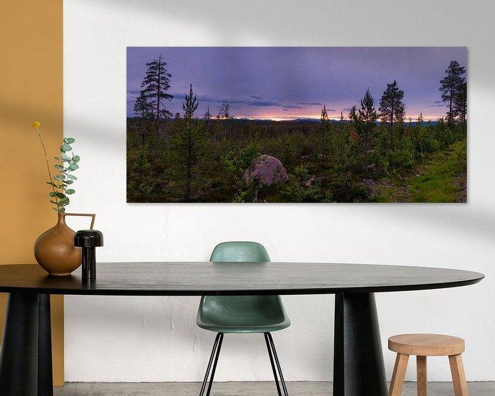 Beispiel: Panorama Idre während der blauen Stunde von Arjen Roos