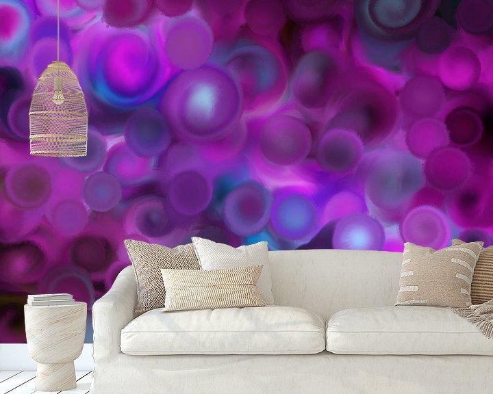 Beispiel fototapete: Abstrakte Kunst - Purple Dreams von Patricia Piotrak