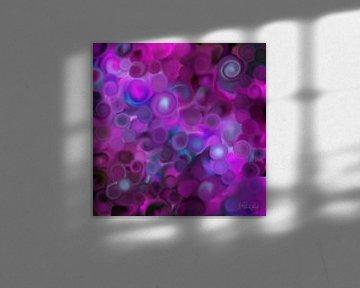 Abstrakte Kunst - Purple Dreams von Patricia Piotrak