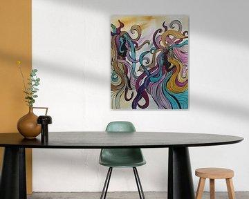 Abstrakte Kunst - Schwestern