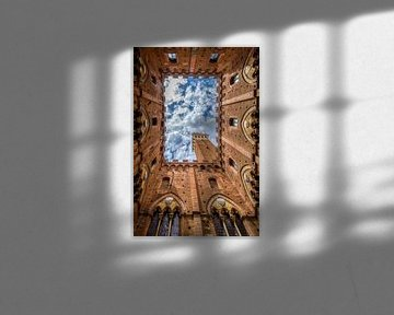 Le Palazzo Pubblico photographié de l'intérieur sur Jan de Wild