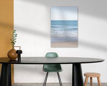 Drieluik van de Noordzee en het Scheveningse strand. 2 van 3. van MICHEL WETTSTEIN