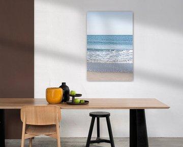 Drieluik van de Noordzee en het Scheveningse strand. 3 van 3. van MICHEL WETTSTEIN