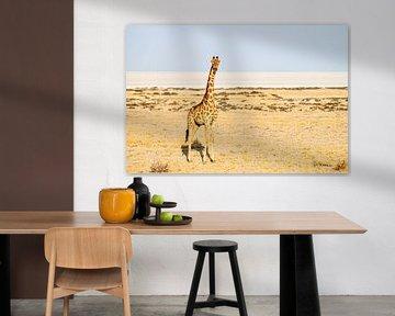 Die Giraffe beobachtet uns. von Merijn Loch