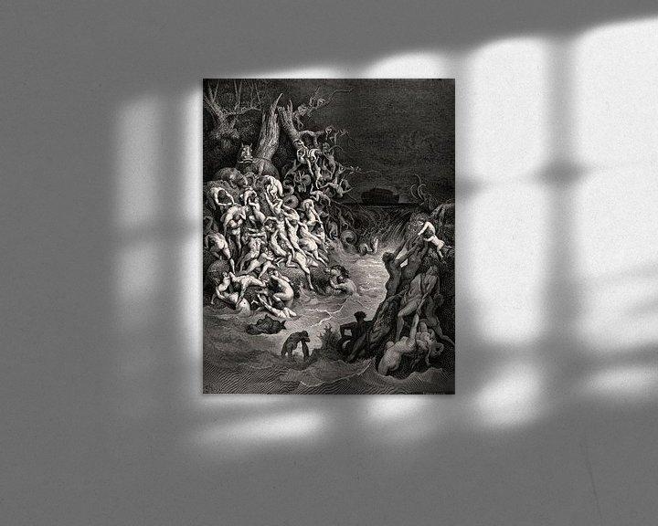Beispiel: Überschwemmung zerstört die Welt - Gustave Doré, 1866 von Atelier Liesjes