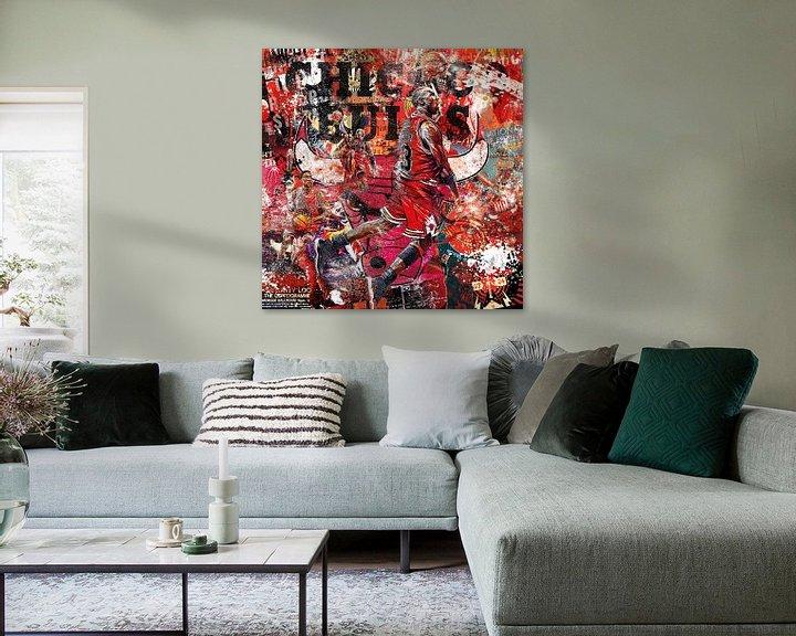 Beispiel: Michael Jordan Chicagoer Stiere von Rene Ladenius Digital Art