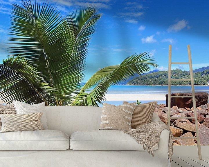 Beispiel fototapete: Traumhafter Strand mit Palme auf den Seychellen von MPfoto71