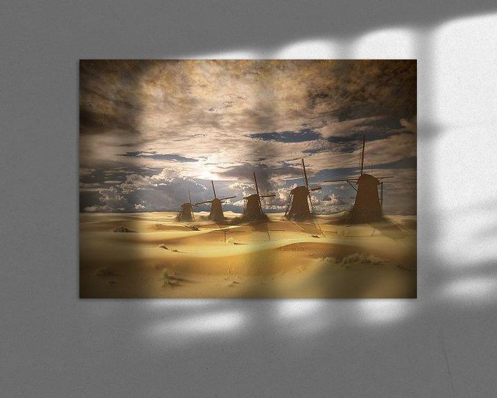 Sfeerimpressie: Nederlands landschap in de toekomst. van Dray van Beeck