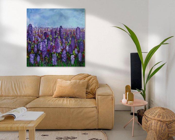 Beispiel: Malerei Lavendelfeld von Patricia Piotrak