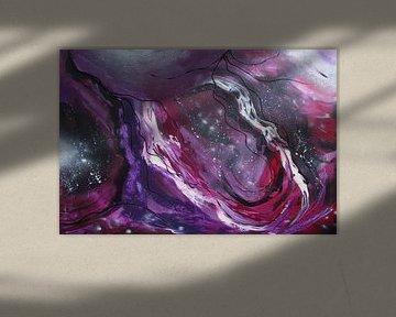 Abstracte kunst - Voorbij de melkweg van Patricia Piotrak