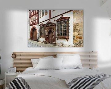 Huis van Gueldenen Kroenbacken in Erfurt, Duitsland van Gunter Kirsch