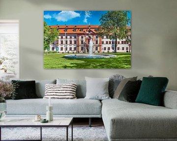 De Thüringer staatskanselarij in Erfurt, Duitsland van Gunter Kirsch