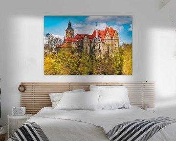 Het Tzschocha kasteel (Zamek Czocha) in Neder-Silezië, Polen van Gunter Kirsch