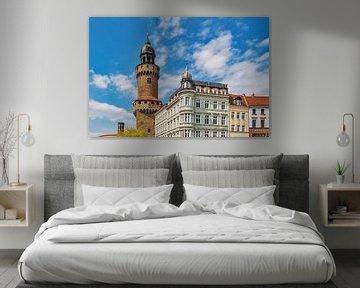 De Reichenbachtoren staat in Görlitz, Duitsland. van Gunter Kirsch