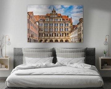 Het nieuwe stadhuis in Görlitz, Duitsland van Gunter Kirsch