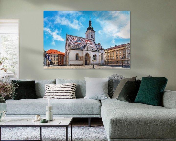 Sfeerimpressie: De kerk van St. Mark in Zagreb van Gunter Kirsch