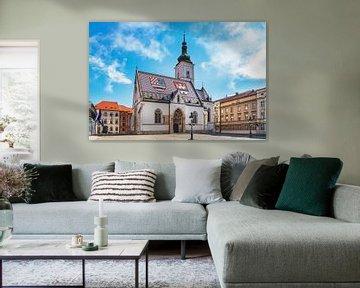 De kerk van St. Mark in Zagreb van Gunter Kirsch