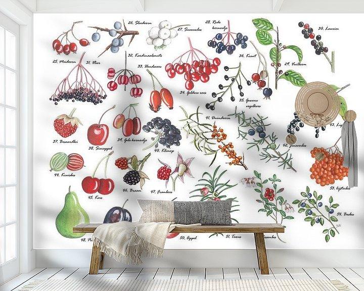 Sfeerimpressie behang: Een plaat vol vruchten van Jasper de Ruiter