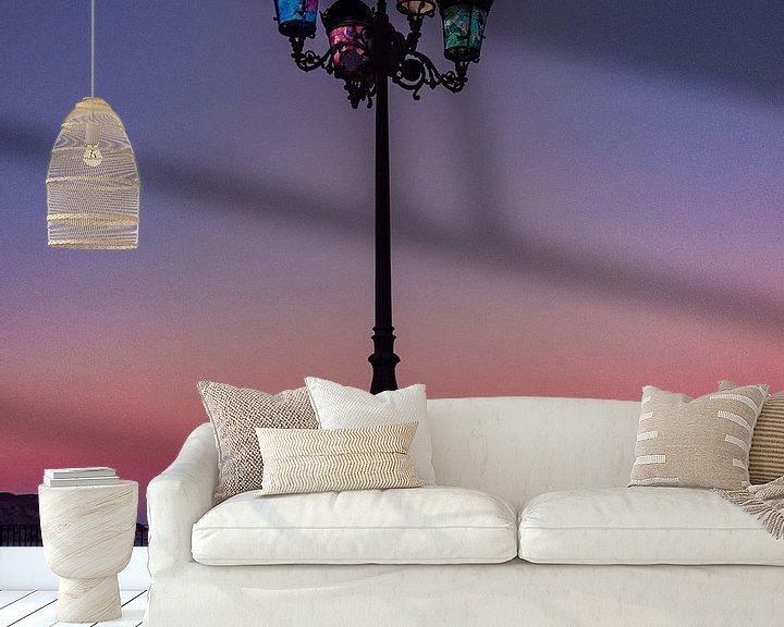 Sfeerimpressie behang: Zonsondergang Altea van Jellie van Althuis