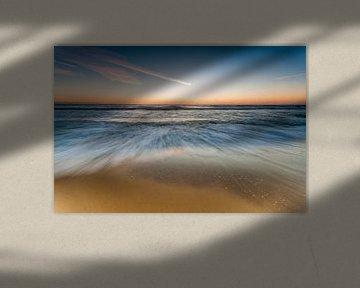 Zonsondergang op de Atlantische Oceaan van Sebastian Leistenschneider